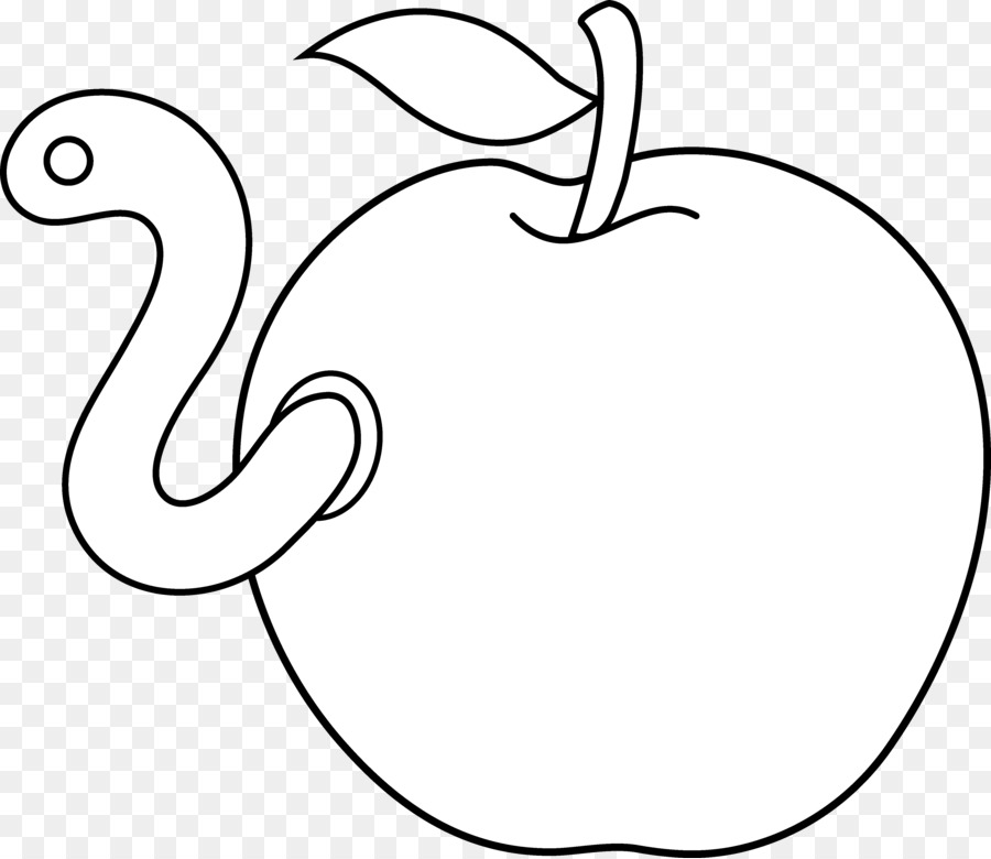 Worm Apple Coloring book Clip art - Apple Logo Outline png download ...