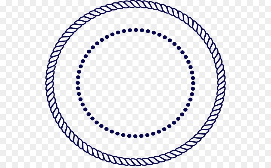 White Circle png download - 600*554 - Free Transparent Rope