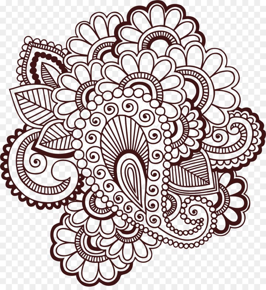 Henna Mehndi Tato Gambar Clip Art Henna Cliparts Unduh Garis