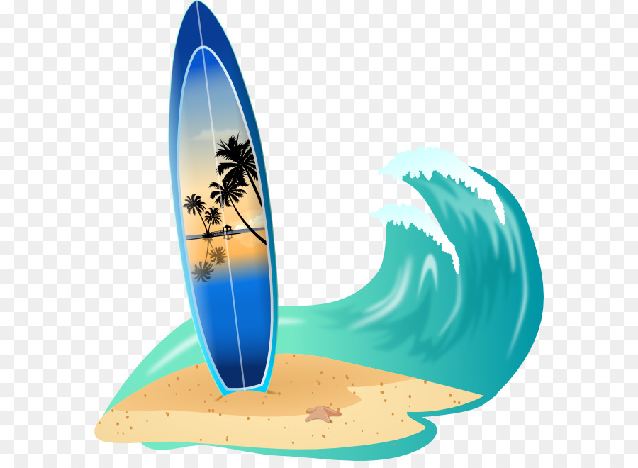 Surfboard Big wave surfing Clip art - Beach Waves Cliparts ...