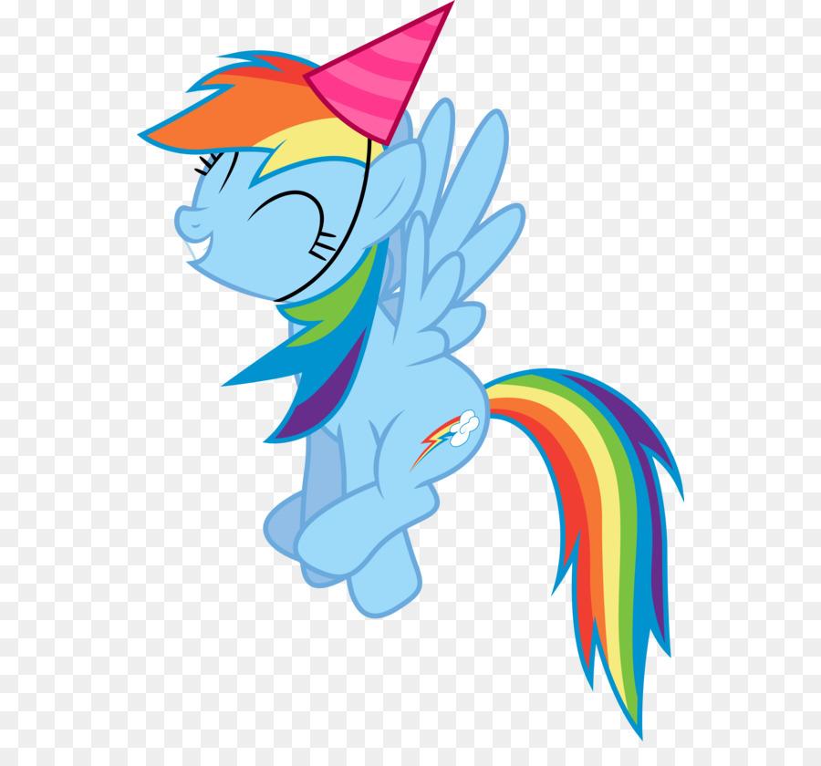 Rainbow Dash Rarity Party Hat Birthday Clip Art