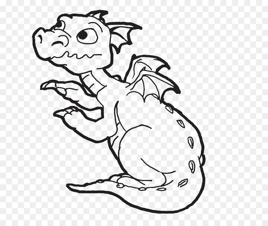 Libro para colorear de Bebé Niño Dragón Clip art - dragón de ...