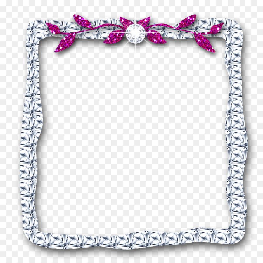 Grenzen und Frames Bilderrahmen Diamant-clipart - Silber Kristalle ...