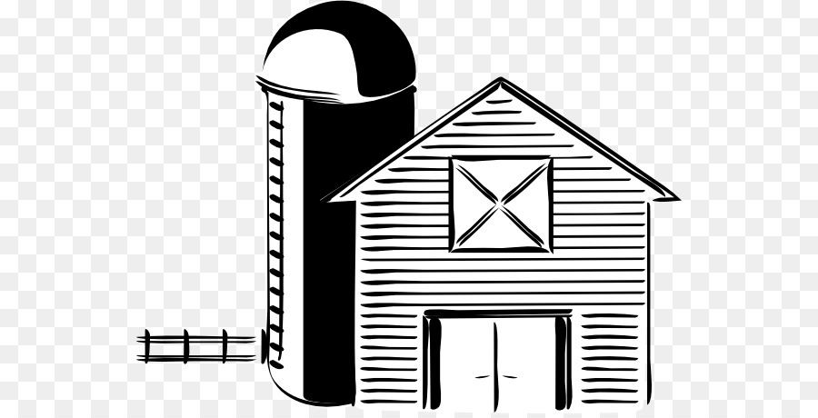 Silo Black And White Farm Barn Clip Art