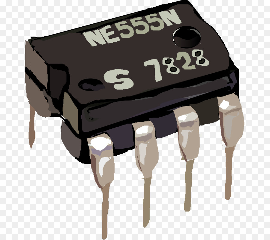 Integrated Circuits Chips 555 Timer IC Electronics Clip Art