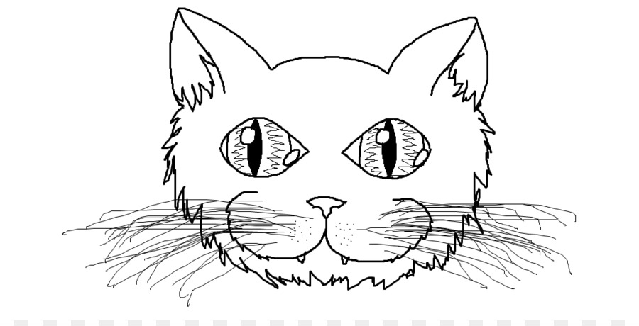 cat kitten drawing coloring book clip art cat face template png
