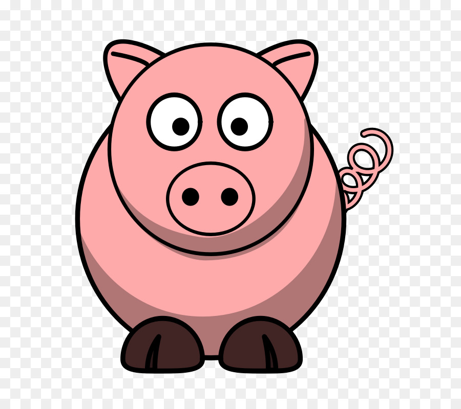 domestic pig cartoon the three little pigs clip art cow outline rh kisspng com clipart of pigs clipart of pigs