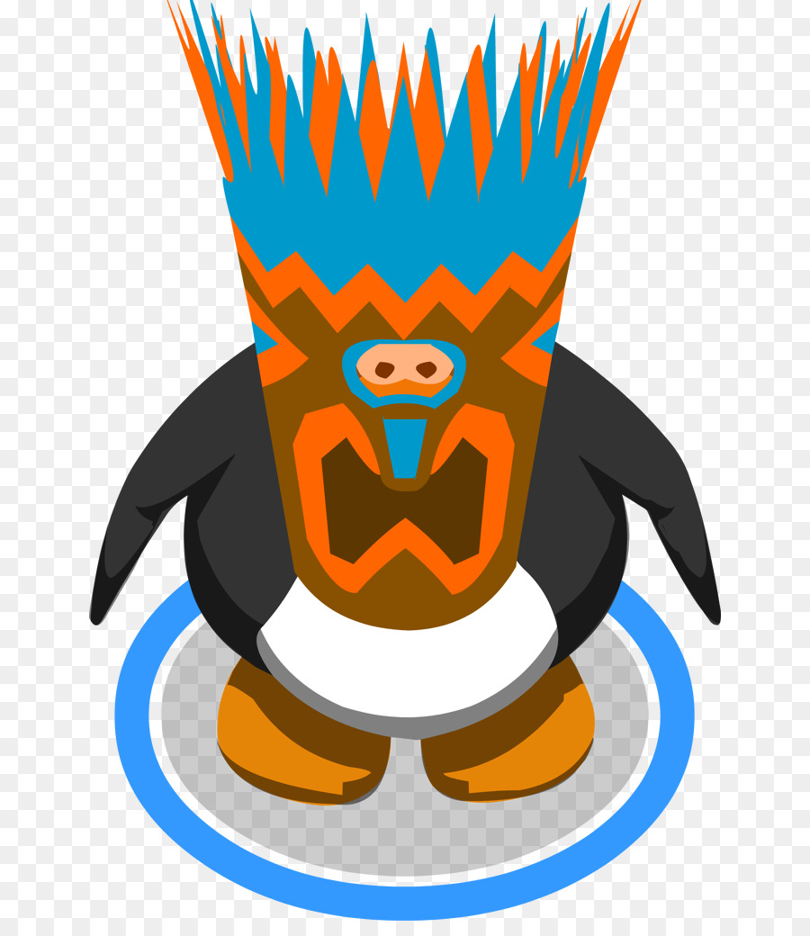 club penguin hat wiki clip art tiki mask template png download