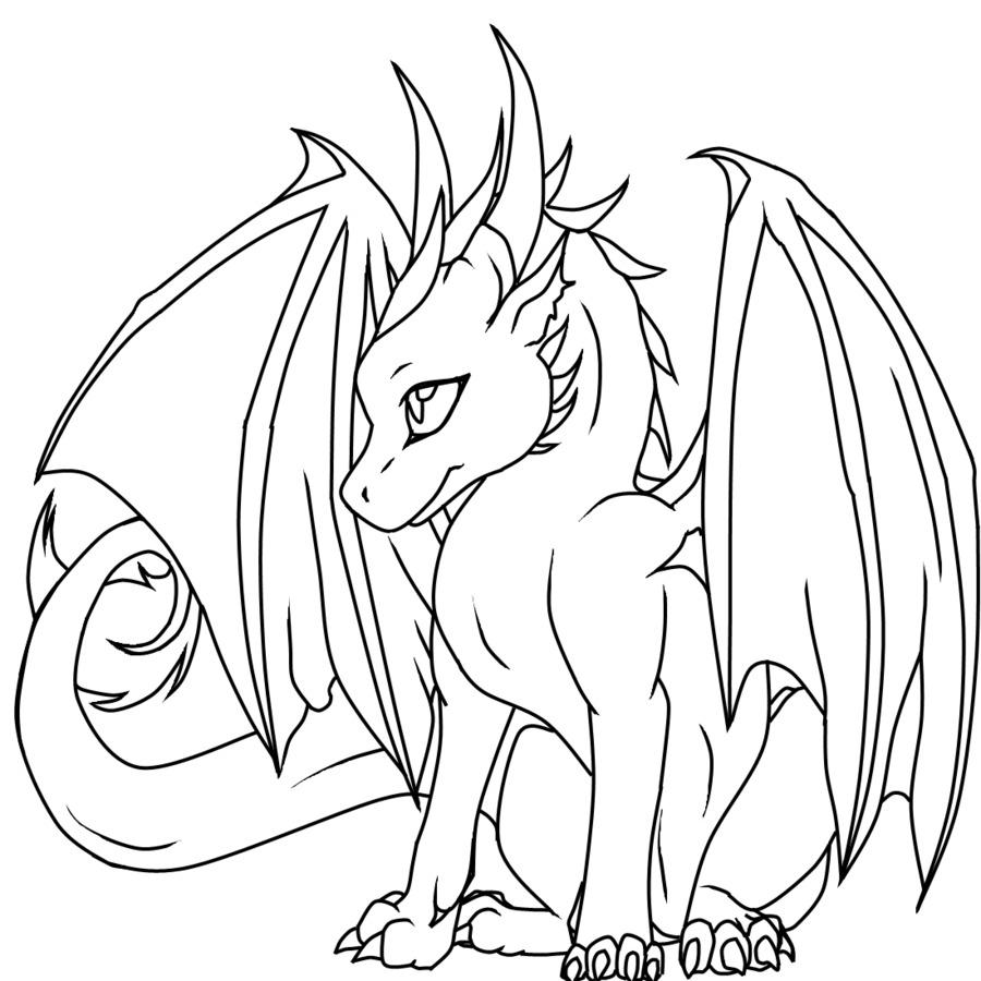 Libro para colorear dragón de Komodo Niño Adulto - bebé dragón png ...