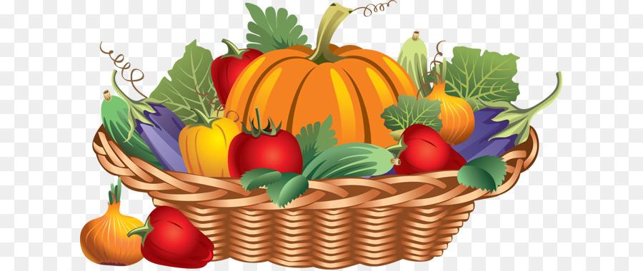 Basket Thanksgiving Dinner Fruit Clip Art Vegetables Drawing