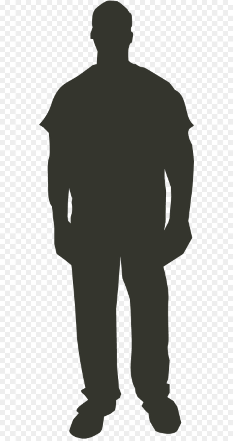 Person Outline Clip art - Man Standing Silhouette png ...
