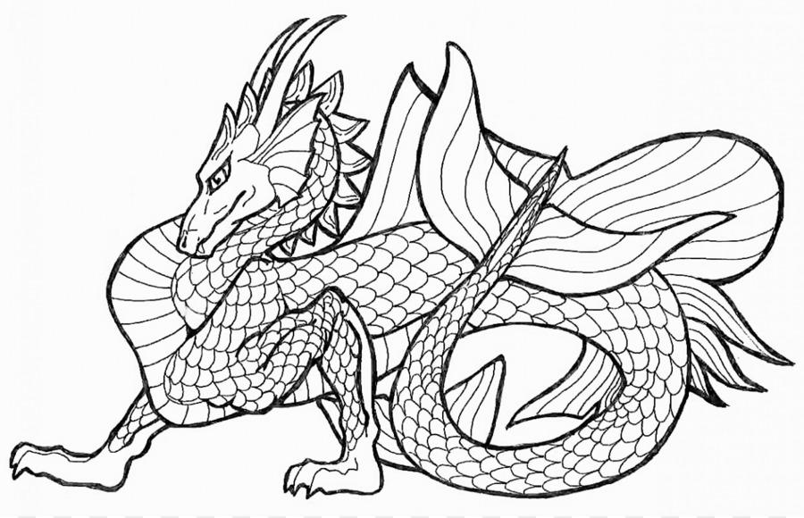 Libro para colorear dragón Chino Hijo Mandala - dragón de imágenes ...