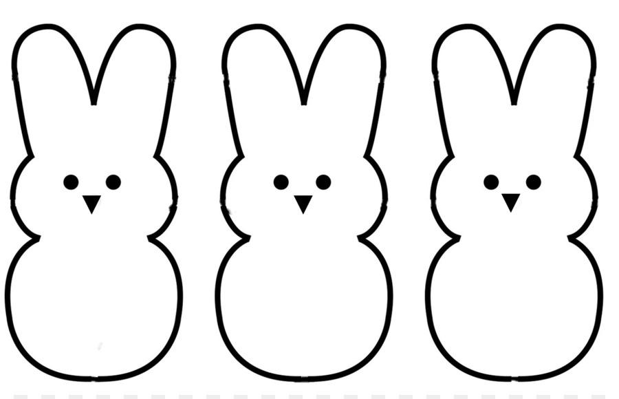 peeps coloring book marshmallow candy clip art bunny outline png rh kisspng com peeps clipart easter peeps clipart