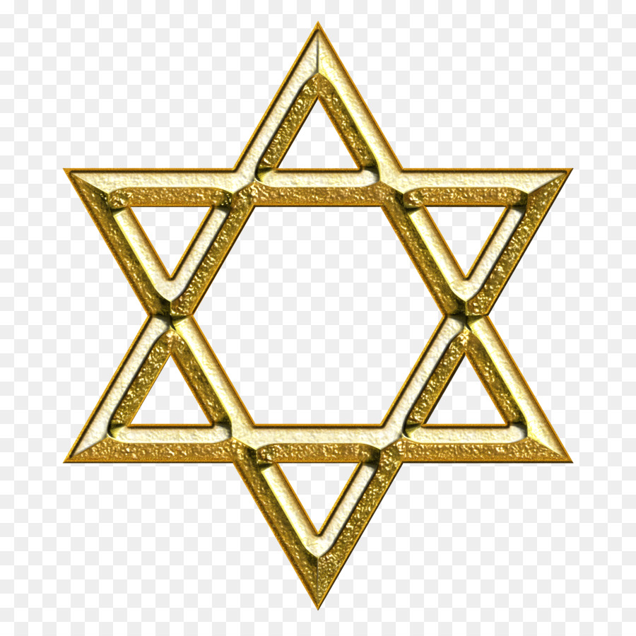 Star Of David Judaism Gold Symbol Illustration Star David Png