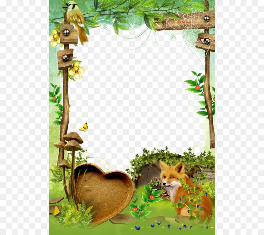 Mushroom Picture Frames Clip art - Cartoon wooden sign Border ...