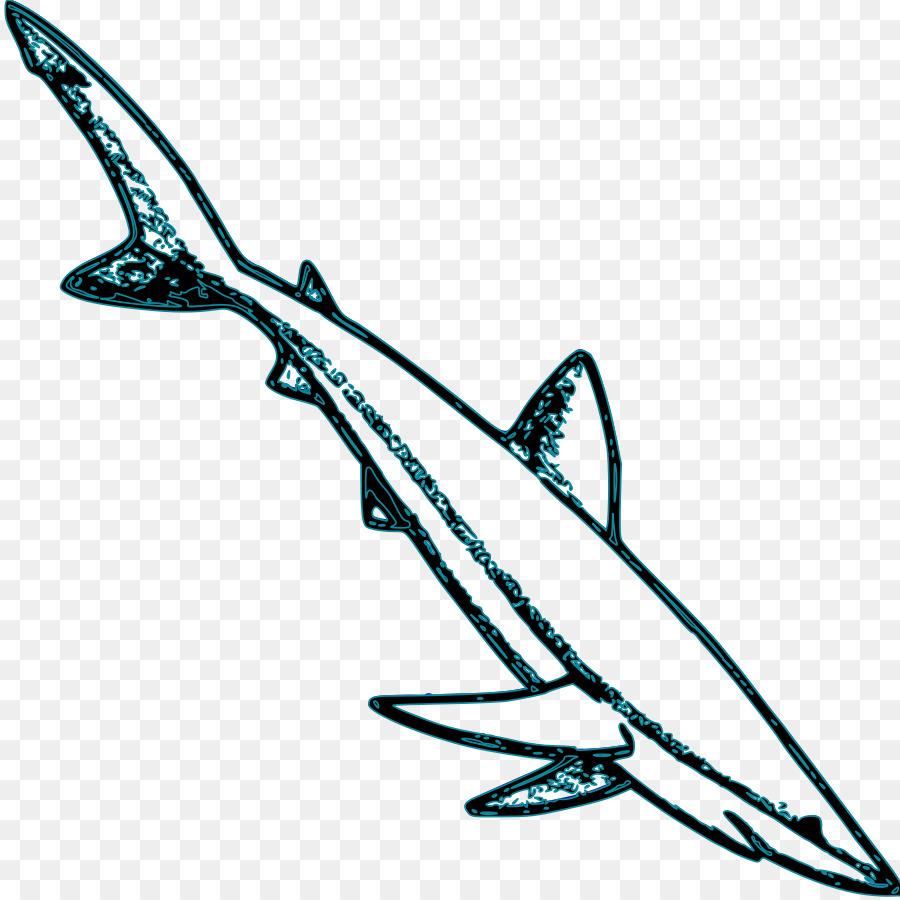 El tiburón azul Gran tiburón blanco, tiburón Tigre Clip art ...