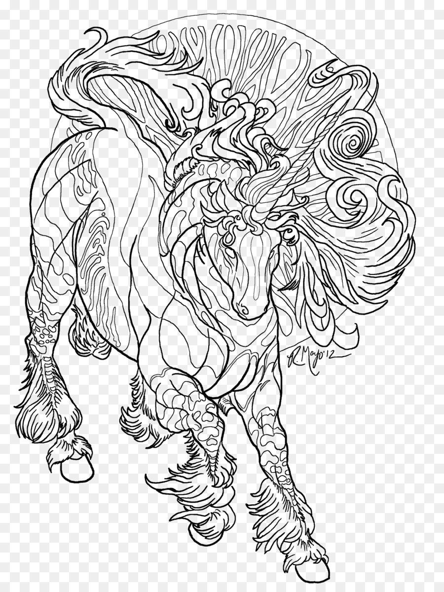 Caballo de libro para Colorear con Alas unicornio Adulto - arte de ...