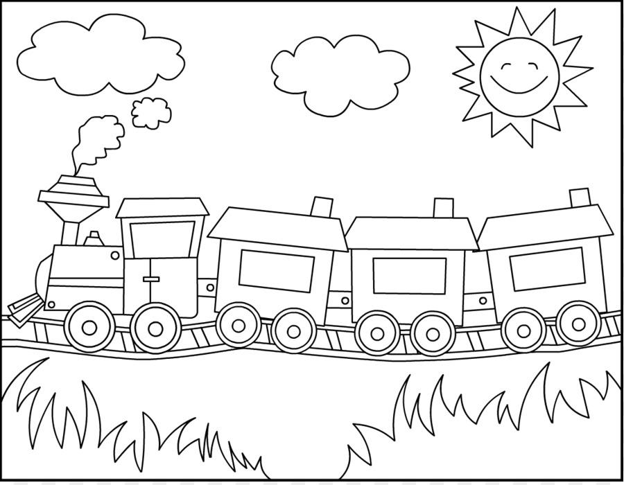 Thomas el Tren de transporte Ferroviario de libro para Colorear de ...