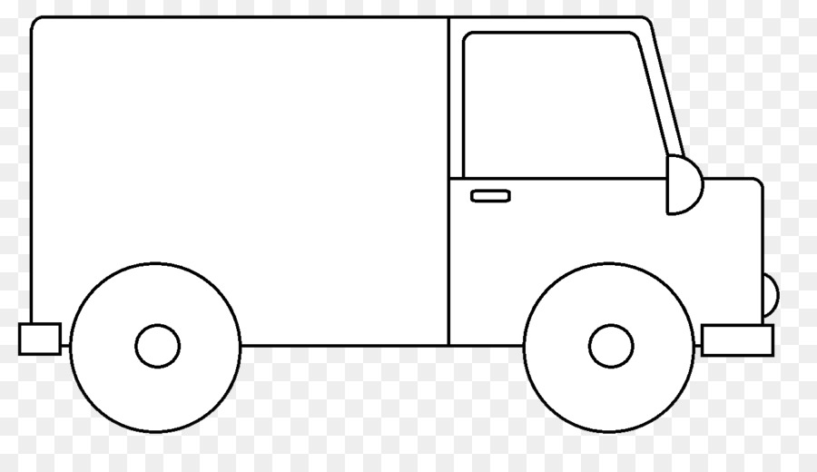 Drawing White Door Handle White Van Cliparts Png Download 1270