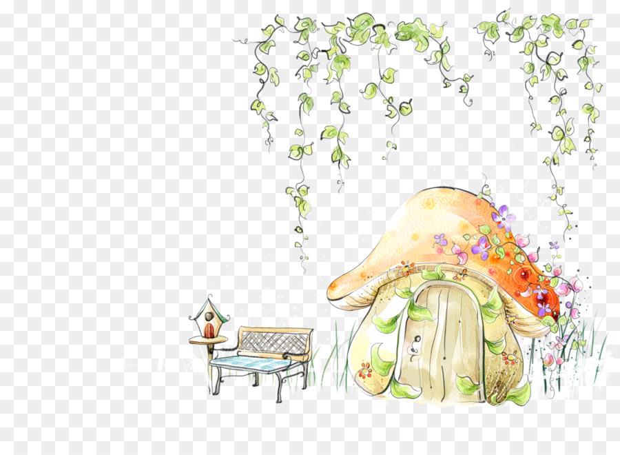 Fairy Tale Template Microsoft Powerpoint Illustration Mushroom