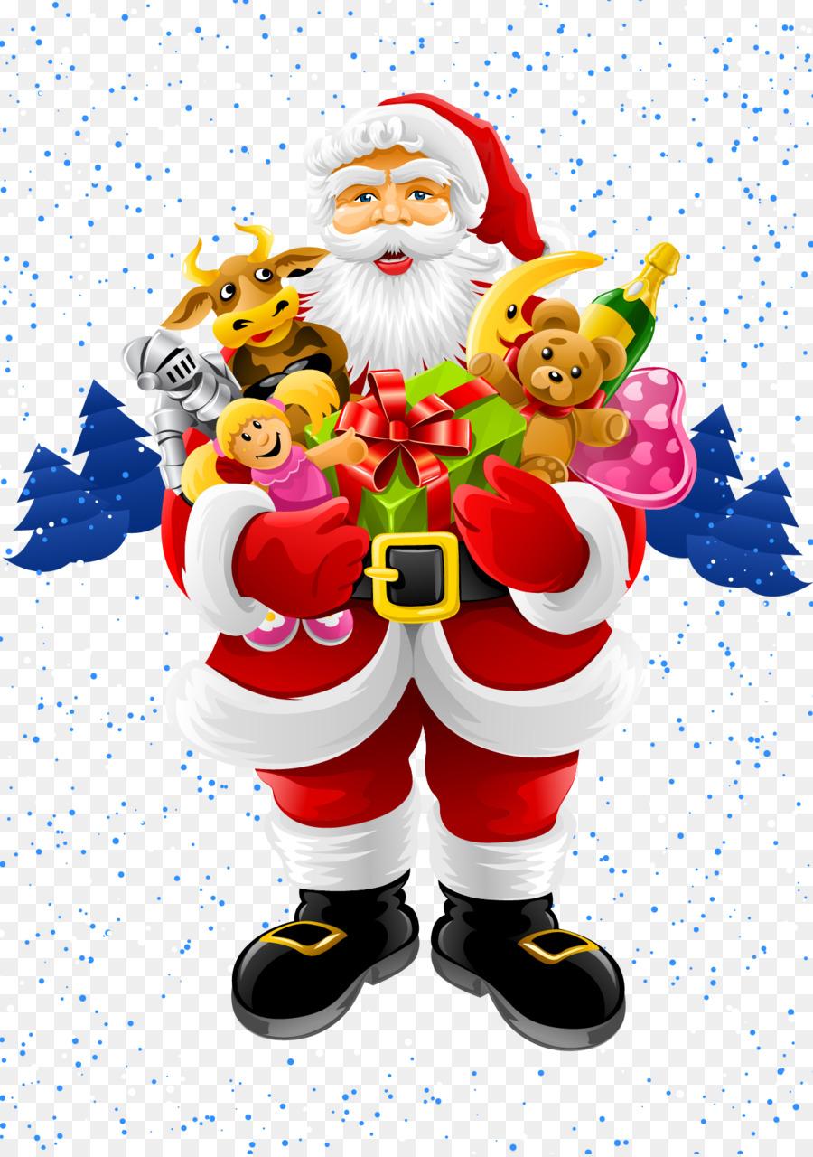 Santa Claus Christmas Greeting Note Cards Clip Art Vector Santa