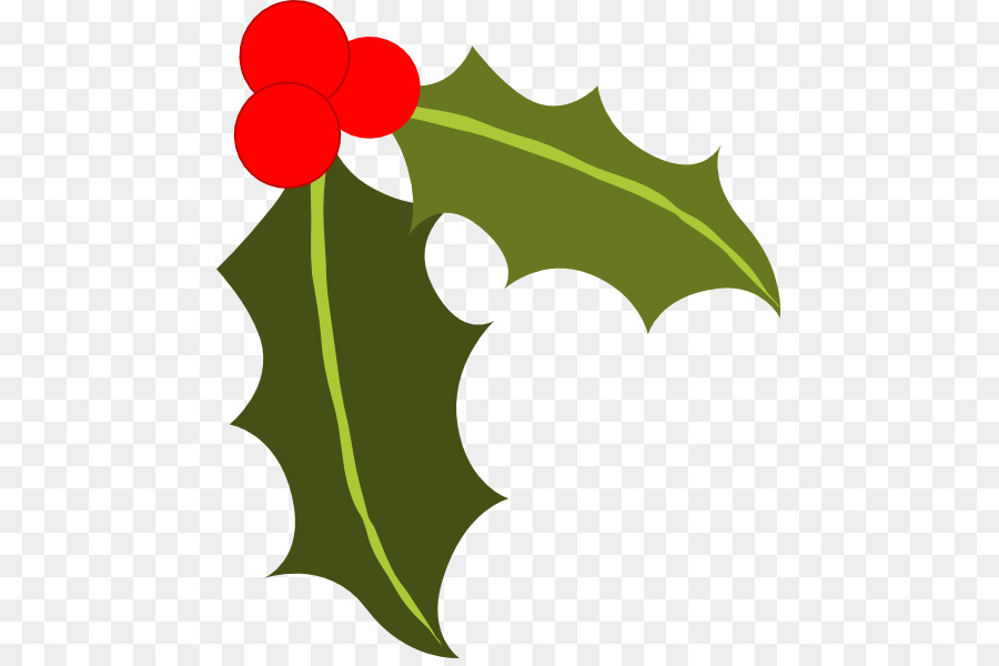 Holly Leaves And Berries Clip Art