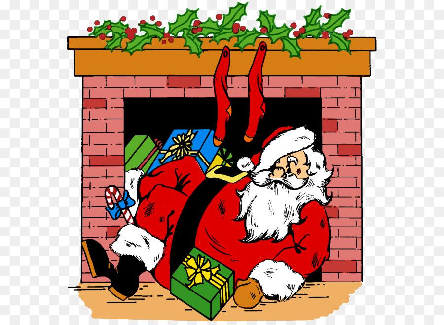 Weihnachtskarten Clipart.Santa Claus Weihnachtskarten Weihnachten Clip Art Schornstein