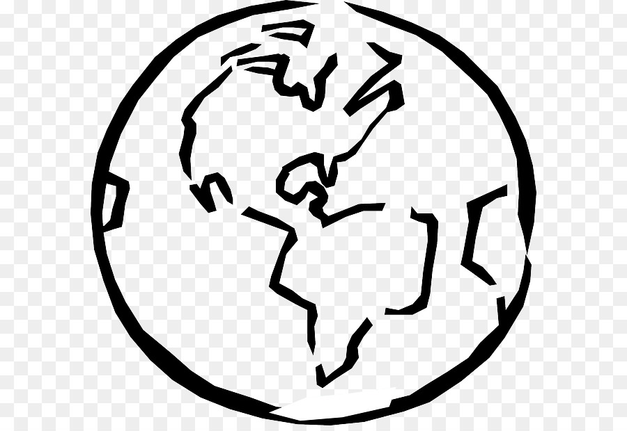 Earth Globe Black And White Clip Art   Globe Outline Cliparts