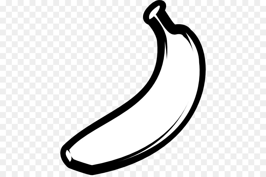 Banana black and white. Clipart png download free