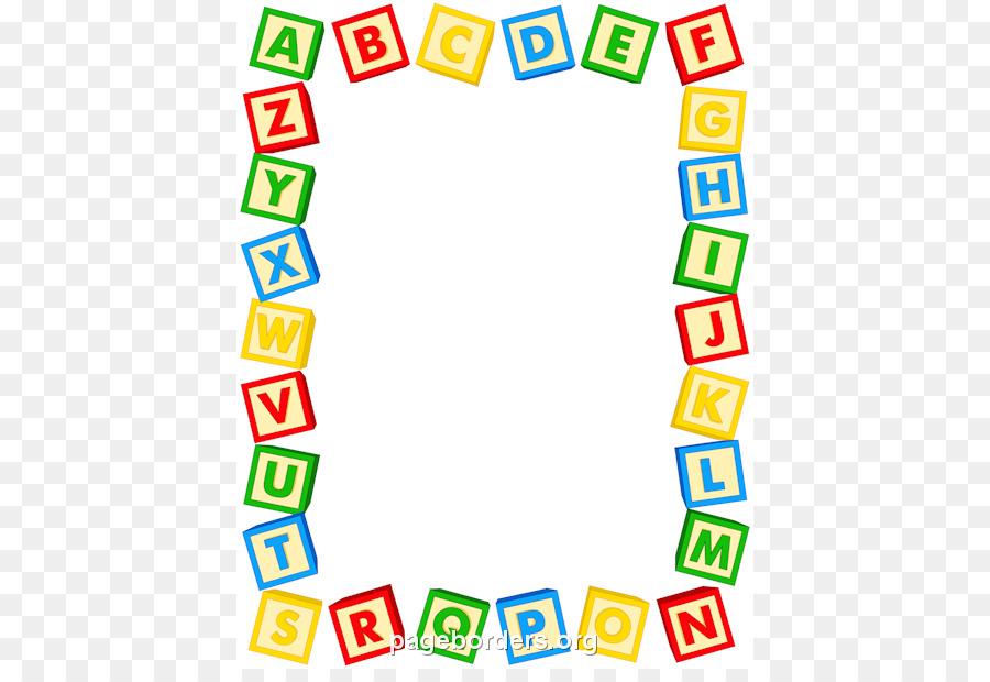 Alphabet Letter Toy Block Clip Art Pencil Border Cliparts Png