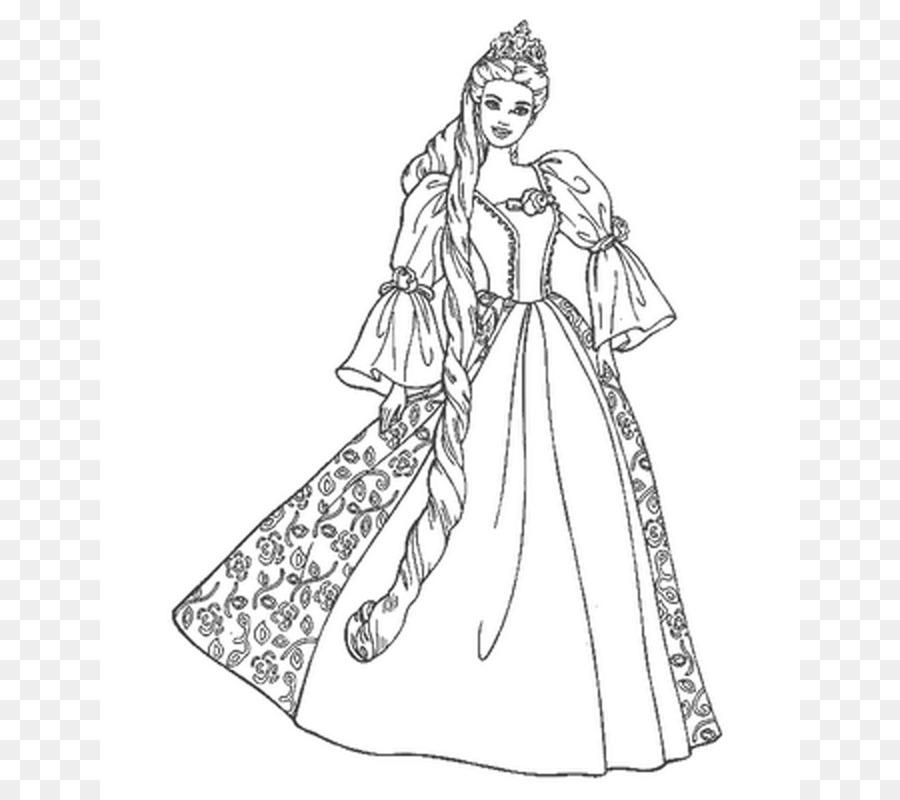 Libro para colorear de Barbie Muñeca Niño - lsu calabaza plantilla ...