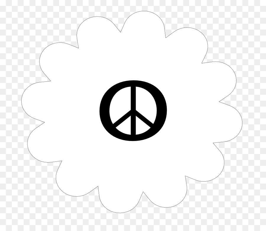 Peace Symbols Brand Circle Area Flower Tattoos Black And White Png
