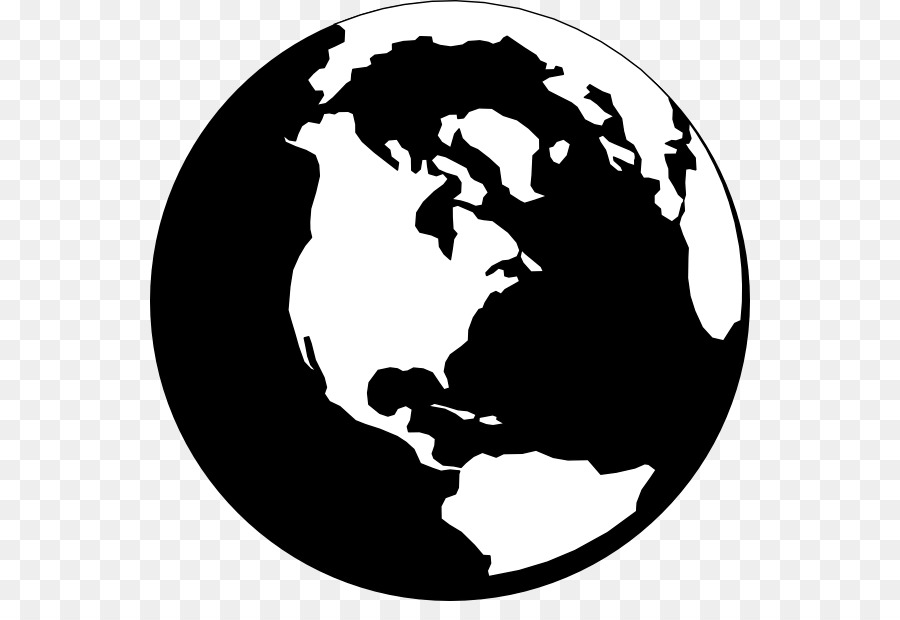 World Globe Black and white Clip art - Earth Cliparts Black png ...