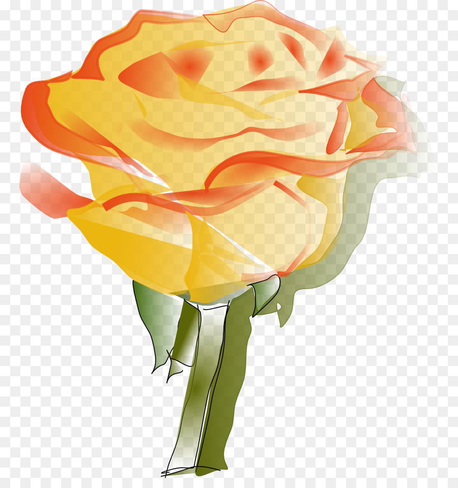 Rose Yellow Clip Art Yellow Rose Clipart Png Download 831941