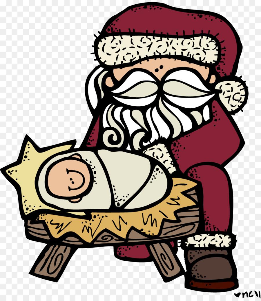 Santa Claus Rudolph Reindeer Christmas Clip art - Jesus Christmas ...