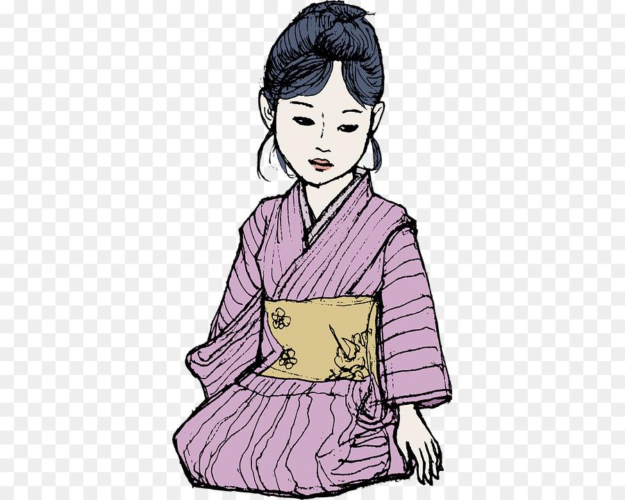 Japonés muñecas Kimono libro para Colorear de la Cultura - Kimono de ...