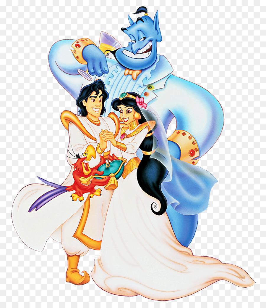 Princess Jasmine Aladdin Genie Abu Clip art - Aladdin Cliparts png ...