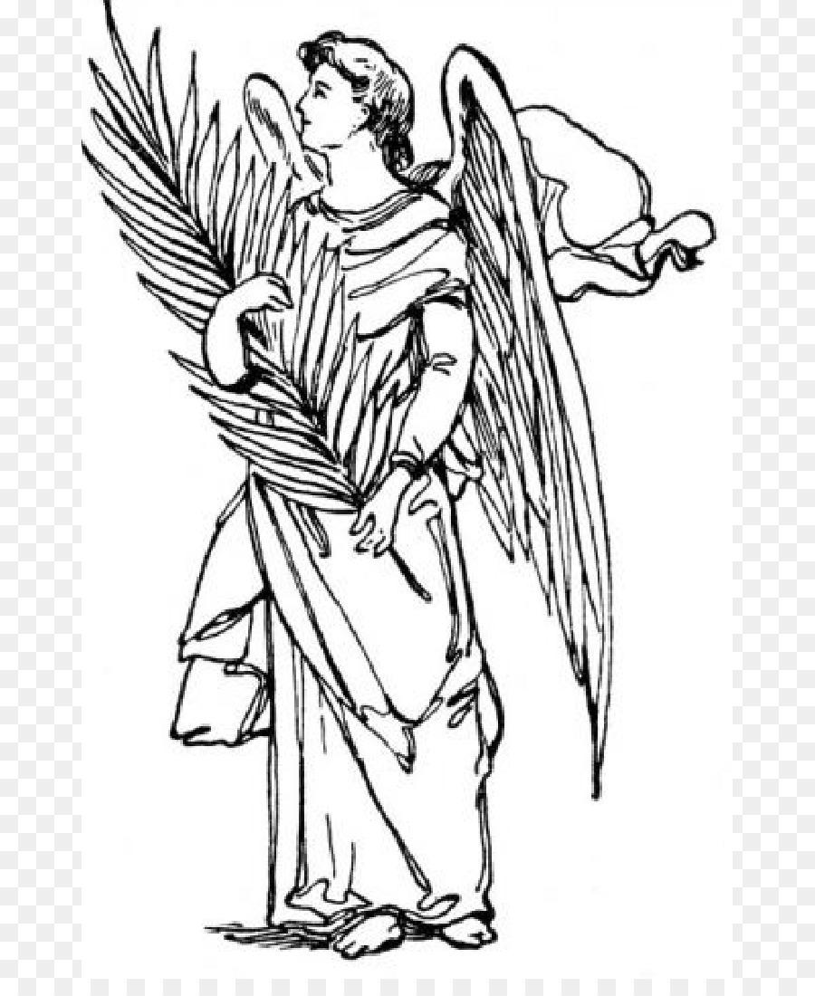 San Gabriele Arcangelo Michael Libro Da Colorare Angelo Custode