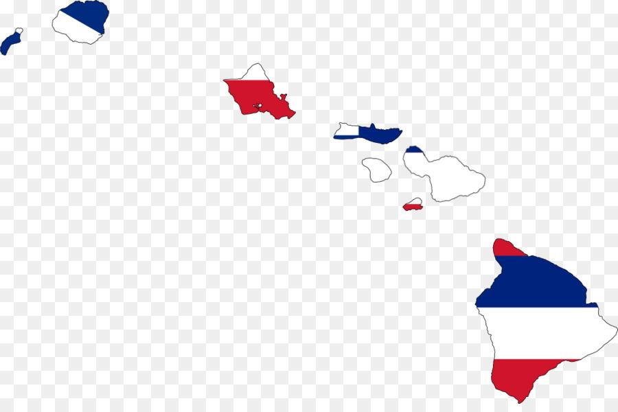 Flag Of Hawaii Map Clip Art