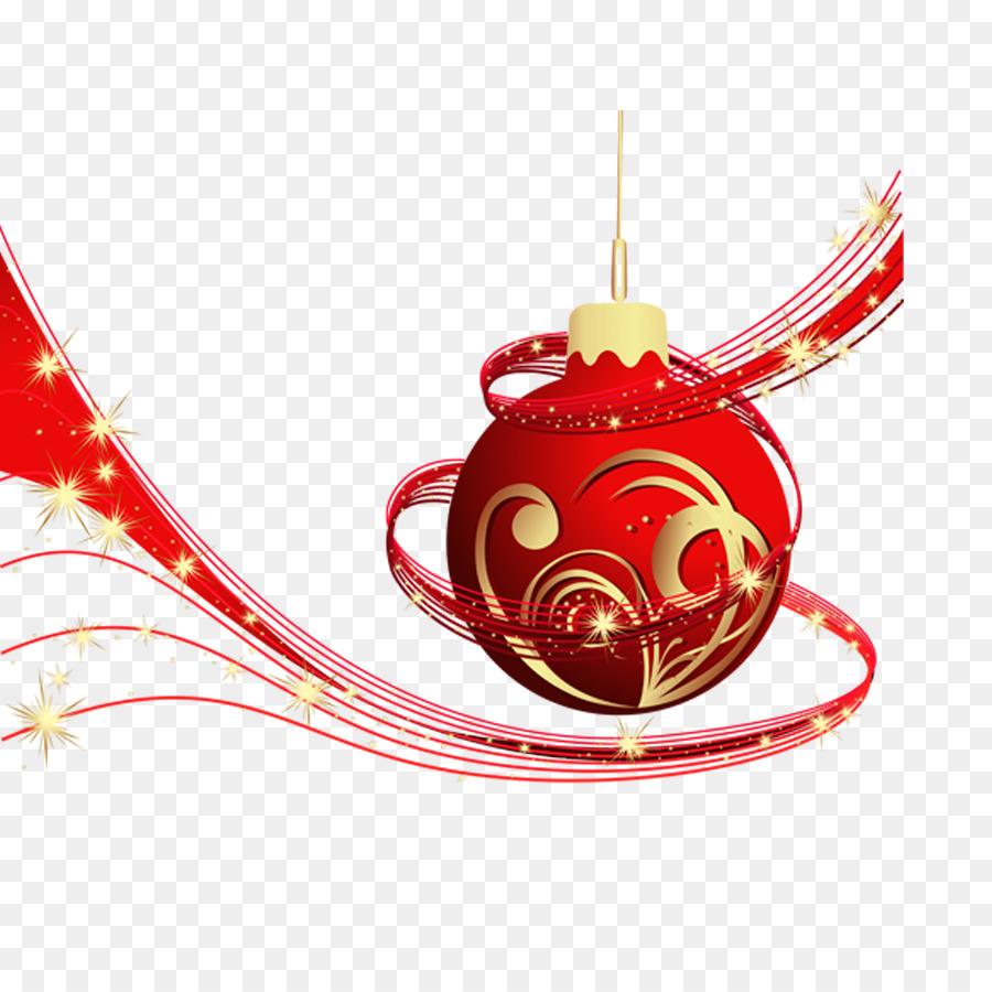 Christmas decoration Christmas ornament Clip art - Red Christmas ...