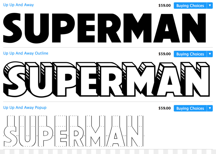 Superman Typeface Superhero Font