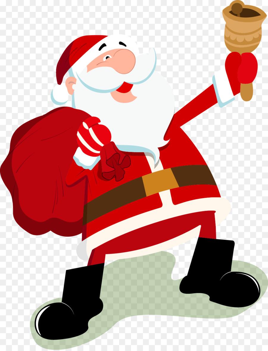Santa Claus Christmas Cartoon Clip art - Cartoon Santa Claus vector ...