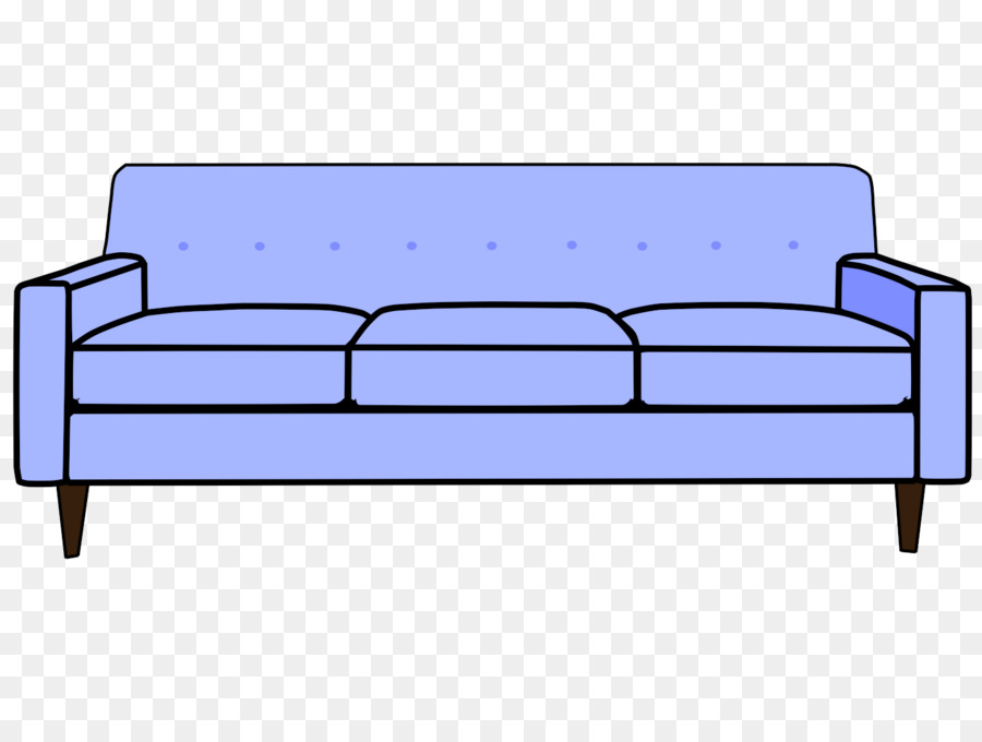 Couch Cartoon Sofa Bed Clip Art Tutorials Cliparts Png Download