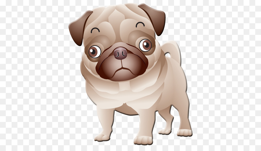 Pugs en Trajes Cachorro Bulldog camiseta - De dibujos animados de ...