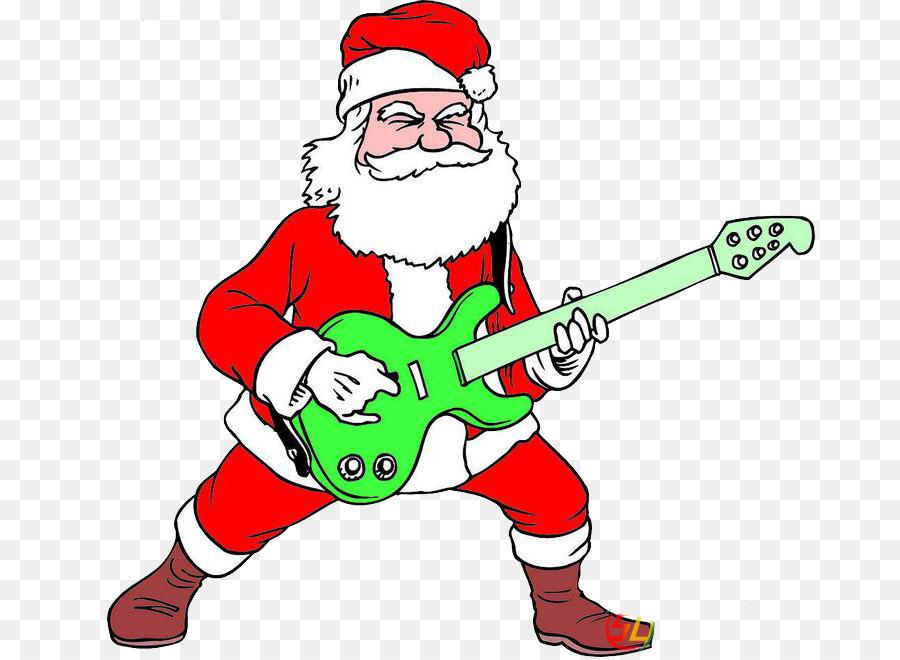 santa claus guitar christmas clip art merry christmas classic - Christmas Classic Music