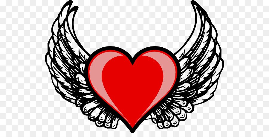 heart drawing clip art hearts with wings png download 600 447 rh kisspng com images of hearts with wings and halo images of red hearts with wings