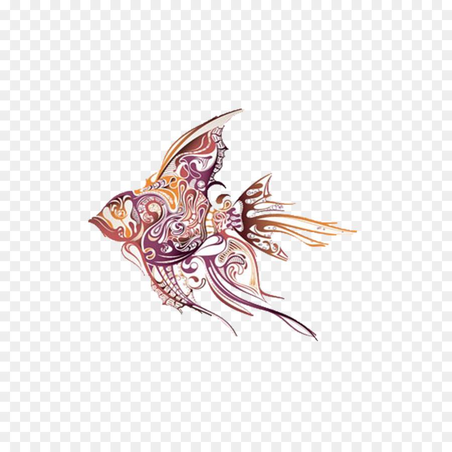 Angelfish Tattoo Artist Drawing Tropical Fish