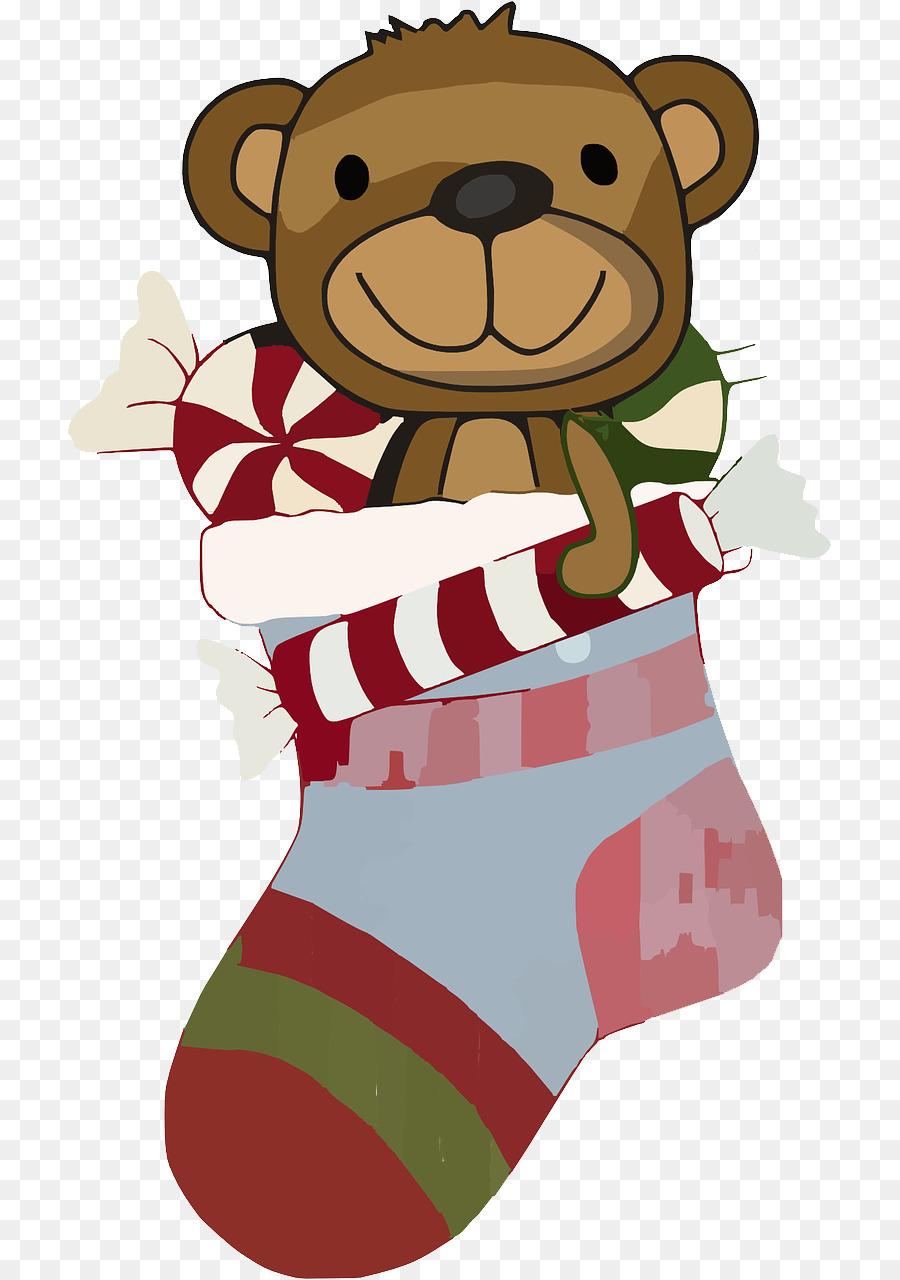 Christmas Pixabay Illustration - Stocking Sock Cliparts png download ...