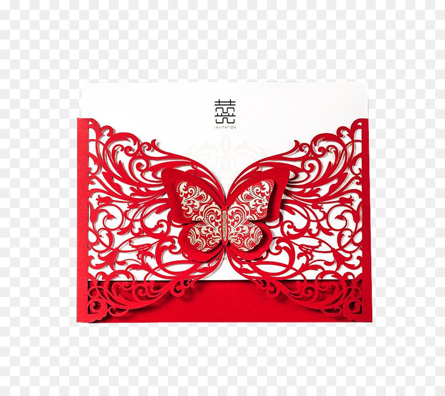 Wedding invitation Paper Red envelope Invitations wedding
