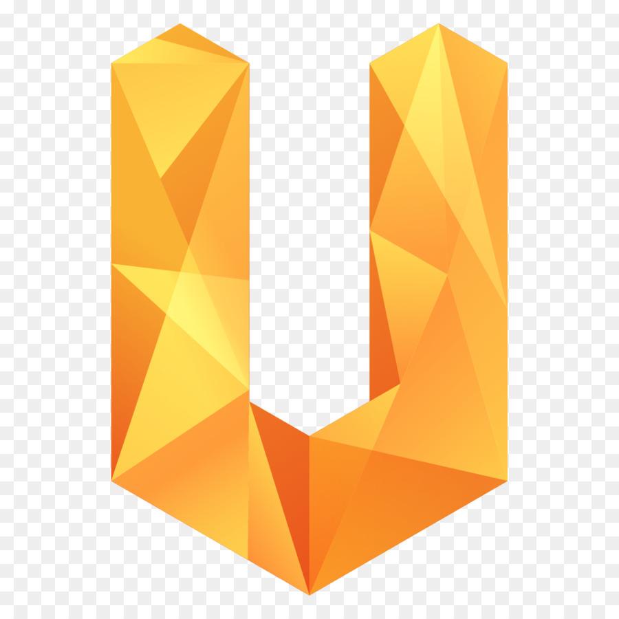 Geometric Origami Letter V